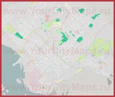 Подробная карта города Баия-Бланка