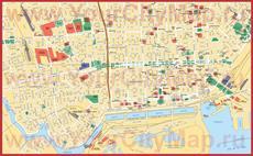 Карта Буэнос-Айреса с достопримечательностями