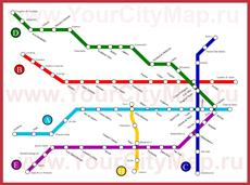 Карта метро Буэнос-Айреса