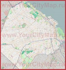 Подробная карта города Буэнос-Айрес