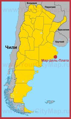 Мар-дель-Плата на карте Аргентины