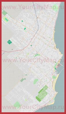 Подробная карта города Мар-дель-Плата