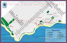 Туристическая карта  с достопримечательностями и отелями
