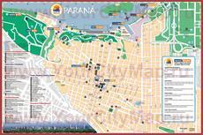 Подробная туристическая карта города Парана с достопримечательностями