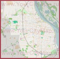 Подробная карта города Росарио