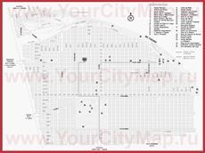 Туристическая карта Росарио с достопримечательностями