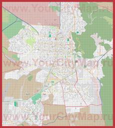 Подробная карта города Сальта