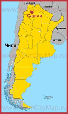 Сальта на карте Аргентины