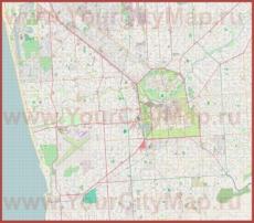 Подробная карта города Аделаида