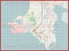 Подробная карта города Дарвин