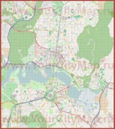 Подробная карта города Канберра