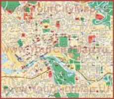 Туристическая карта Мельбурна с достопримечательностями