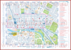 Карта отелей Мельбурна