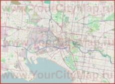 Подробная карта города Мельбурн с улицами