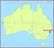 Ньюкасл на карте Австралии