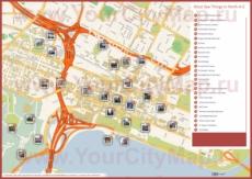 Туристическая карта Перта с достопримечательностями