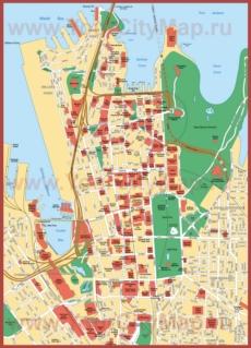 Карта Сиднея с достопримечательностями