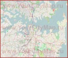 Подробная карта города Сидней