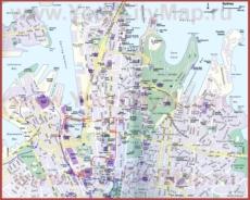 Туристическая карта Сиднея
