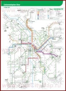 Карта маршрутов транспорта Граца