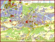 Туристическая карта Инсбрука