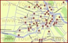 Карта отелей Вены