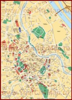 Карта Вены с достопримечательностями