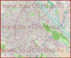 Подробная карта города Вена