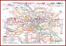 Карта маршрутов транспорта Зальцбурга
