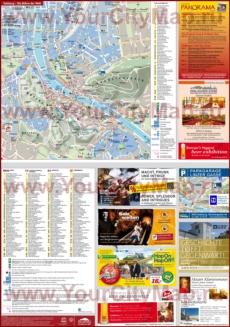 Подробная туристическая карта Зальцбурга с достопримечательностями