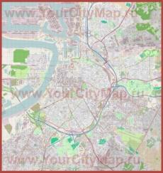 Подробная карта города Антверпен