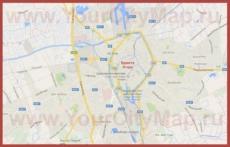 Карта Брюгге на русском языке
