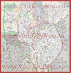 Подробная карта города Брюгге