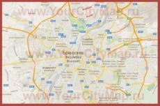 Карта Брюсселя на русском языке