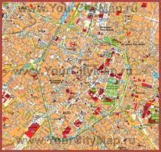 Туристическая карта Брюсселя с достопримечательностями