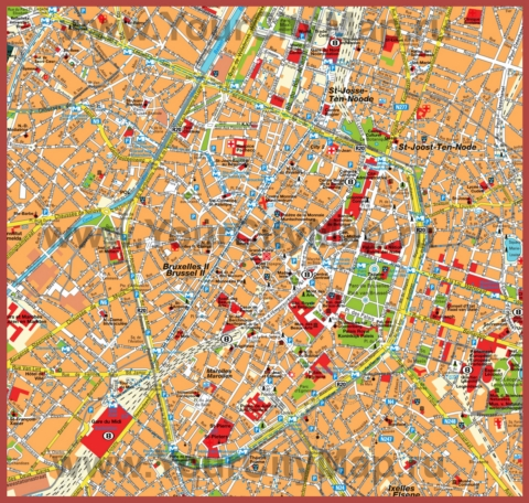 Туристическая карта брюсселя с