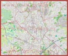Подробная карта города Гент