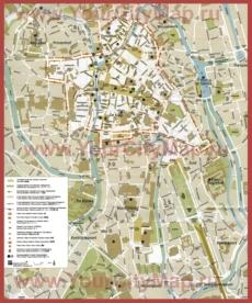 Туристическая карта Гента с достопримечательностями