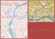 Туристическая карта Льежа с достопримечательностями