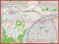 Подробная карта города Намюр