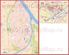 Туристическая карта Намюра с достопримечательностями