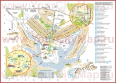Подробная туристическая карта города Бразилиа