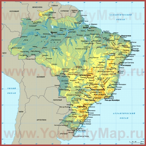 Города Бразилии на карте