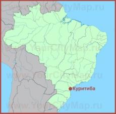 Куритиба на карте Бразилии