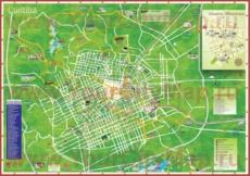 Подробная туристическая карта города Куритиба с отелями и достопримечательностями