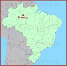 Манаус на карте Бразилии