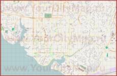 Подробная карта города Манаус