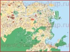 Карта Рио-де-Жанейро с достопримечательностями