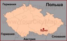 Брно на карте Чехии