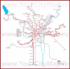 Карта маршрутов транспорта Брно